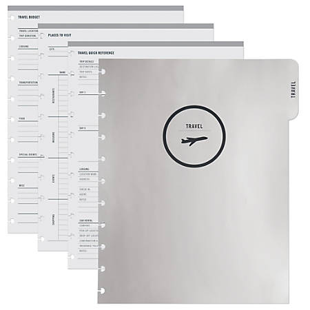 "TUL™ Custom Note-Taking System Discbound Refill Travel Inserts, 8 1/2"" x 11"", 100 Pages (50 Sheets), White"