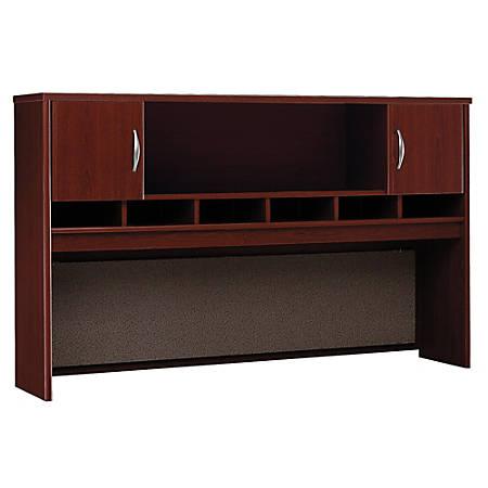 "Bush Business Furniture Components 2-Door Hutch, 72""W, Mahogany, Premium Installation"