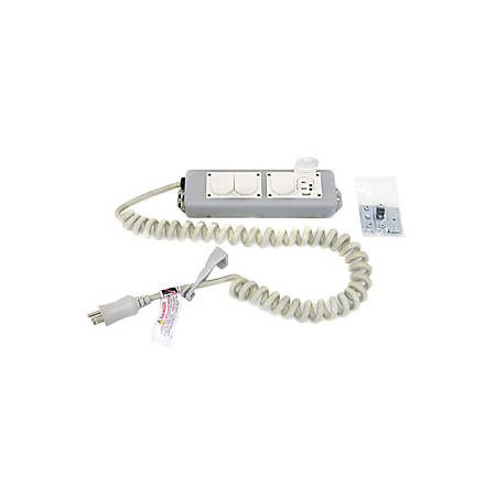 Ergotron 4-Outlets Medical Grade Power Strip - NEMA 5-15P - 4 NEMA 5-15R Hospital Grade - 8ft