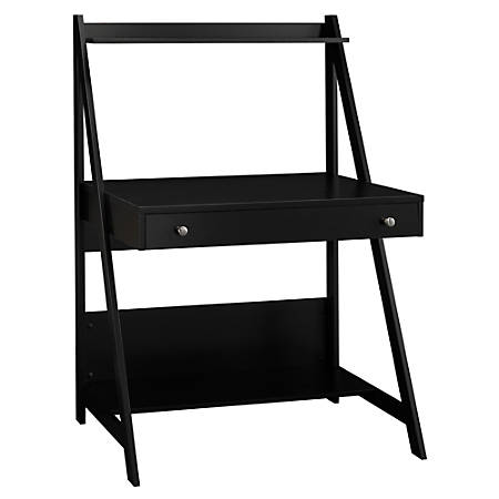 Bush Furniture Alamosa Ladder Desk, Classic Black, Standard Delivery
