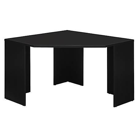 Bush Furniture Stockport Corner Desk, Classic Black, Standard Delivery