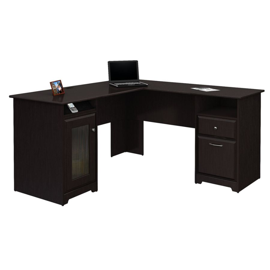 Exceptionnel Bush Furniture Cabot L Shaped Desk Espresso Oak Standard Delivery By Office  Depot U0026 OfficeMax