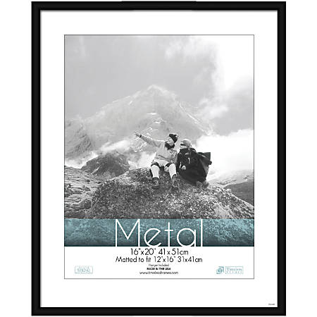 "Timeless Frames® Metal Frame, Matted, 16"" x 20"" , Black"