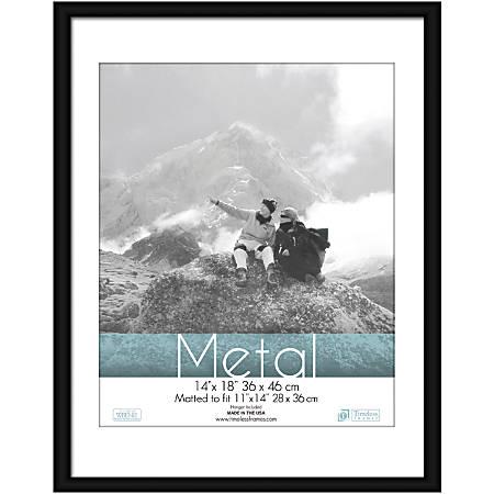 """Timeless Frames® Metal Frame, Matted, 14"""" x 18"""" , Black"""