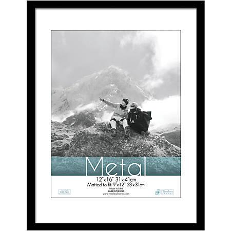 """Timeless Frames® Metal Frame, Matted, 12"""" x 16"""" , Black"""