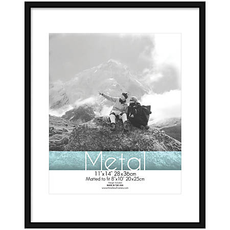 "Timeless Frames® Metal Frame, Matted, 11"" x 14"" , Black"
