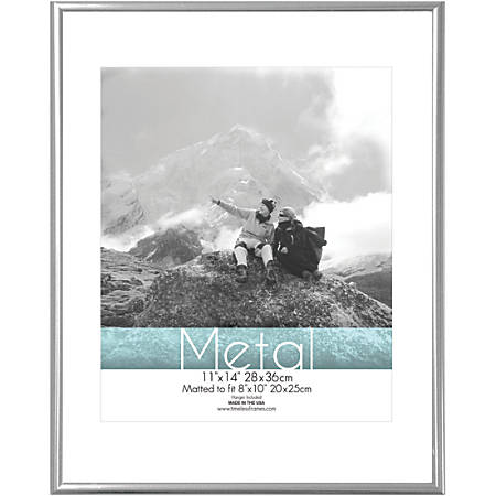 """Timeless Frames® Metal Frame, Matted, 11"""" x 14"""", Silver"""
