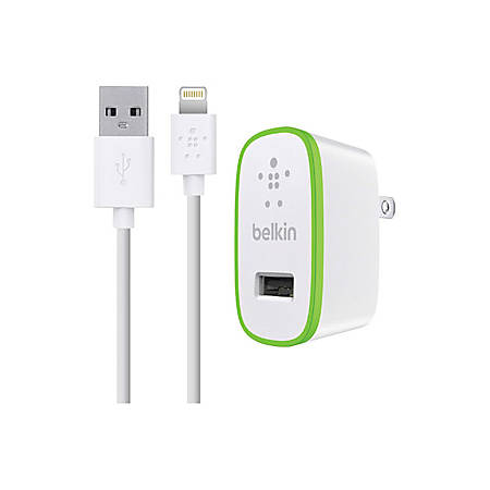 Belkin® Lightning Cable And Wall Charger For Apple® iPhone® And iPad®, White