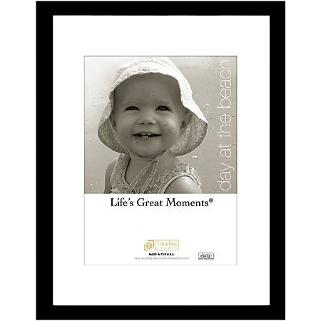 """Timeless Frames® Life's Great Moments Frame, Matted, 11"""" x 14"""", Black"""