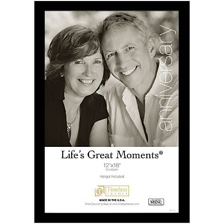 "Timeless Frames® Life's Great Moments Frame, 12"" x 18"", Black"