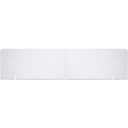 "Pacon® 80% Recycled Corrugated Presentation Board Headers, 9 1/2"" x 36"", White, Carton Of 24"