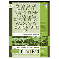 Ecology Recycled Chart Pad 70 Sheets