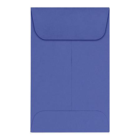 "LUX Coin Envelopes, #1, 2 1/4"" x 3 1/2"", Boardwalk Blue, Pack Of 50"