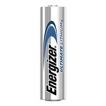 Energizer® Ultimate Lithium Batteries, AA, Pack Of 24 Batteries, L91