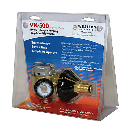 Western Enterprises VN Series CGA-580 HVAC Nitrogen-Purging Regulator/Flowmeter, VN 250