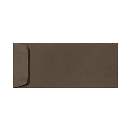 "LUX Open-End Envelopes With Peel & Press Closure, #10, 4 1/8"" x 9 1/2"", Chocolate Brown, Pack Of 1,000"