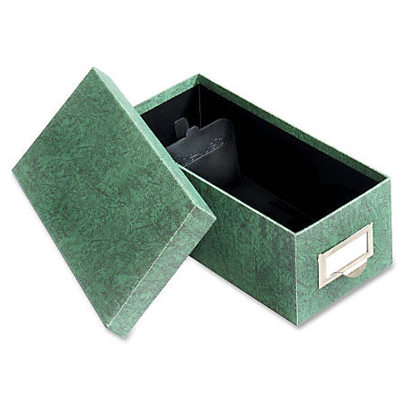 """Globe-Weis® 90% Recycled Index Card Tray, 3"""" x 5"""", Green"""