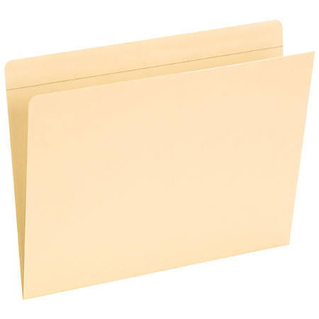 Smead® Reinforced-Tab Pocket Folders, Straight Cut, Letter Size, Manila, Pack Of 50