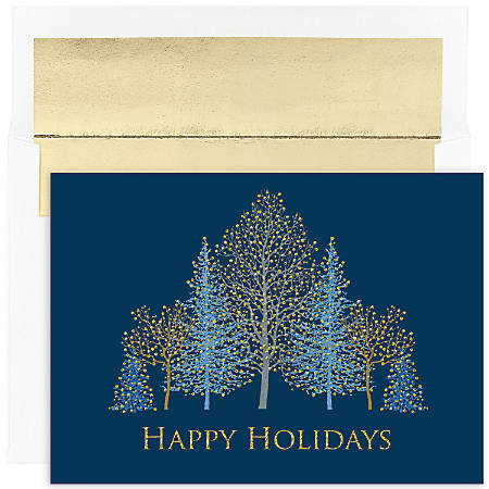 """Great Papers! Holiday Greeting Cards With Envelopes, 7 7/8"""" x 5 5/8"""", Winter Trees, Pack Of 16"""