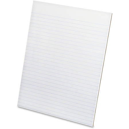 """Ampad Evidence Glue - Top Ruled Pads - Letter - 50 Sheets - Glue - Unruled - 15 lb Basis Weight - 8 1/2"""" x 11"""" - 0.2"""" x 8.5""""11"""" - White Paper - Padded, Sturdy Back, Chipboard Backing, Easy Tear, Smooth Edge, Rigid - 12 / Pack"""