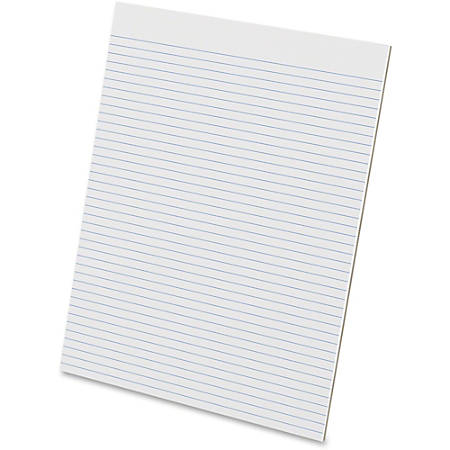 Ampad Evidence Glue-Top Ruled Pads, Letter Size, 50 Sheets, Unruled, Pack Of 12