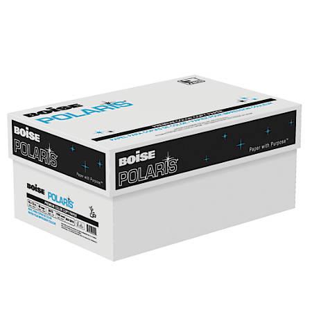 "Boise POLARIS® Premium Color Copy Paper, Tabloid Extra Size (18"" x 12""), 98 (U.S.) Brightness, 28 Lb, White, FSC® Certified, 500 Sheets Per Ream, Case Of 3 Reams"