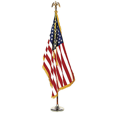 Annin and Company Colonial Complete Mounted U.S. Flag Set