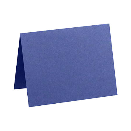 """LUX Folded Cards, A1, 3 1/2"""" x 4 7/8"""", Boardwalk Blue, Pack Of 250"""