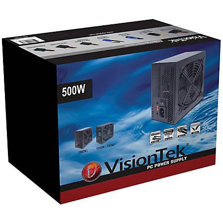 VisionTek 500W Power Supply - ATX12V/EPS12V - 110 V AC, 220 V AC Input Voltage - 1 Fans - Internal - 500 W