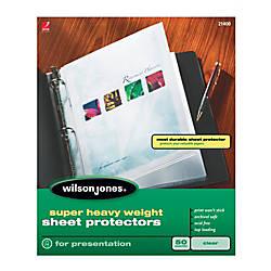 Wilson Jones Top Loading Sheet Protectors