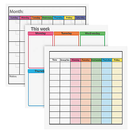 """Flipside Dry Erase Class Managemt Combo Set - 24"""" (2 ft) Width x 24"""" (2 ft) Height - Assorted Surface - Square - 1 Set"""