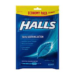 Halls Menthol Cough Drops 80 Drops