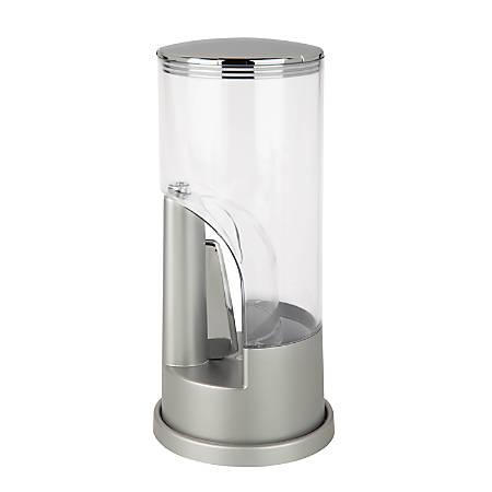 "Zevro KCH-06077 Storage Ware - 4.50"" Length 4.50"" Width 4.50"" Diameter Coffee Dispenser - Plastic - Silver, Chrome"