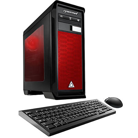 CybertronPC Rhodium RX-460E Desktop PC, AMD FX Quad-Core, 8GB Memory, 1TB Hard Drive, Windows® 10, Radeon RX 460