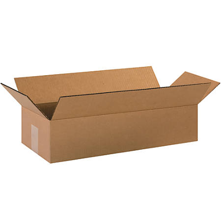 "Office Depot® Brand Long Corrugated Boxes, 4""H x 8""W x 20""D, Kraft, Bundle Of 25"