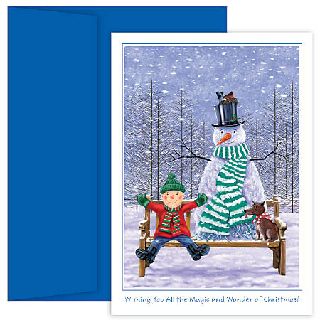 "Great Papers! Holiday Greeting Cards With Envelopes, 5 5/8"" x 7 7/8"", The Magic And Wonder Of Christmas, Pack Of 18"