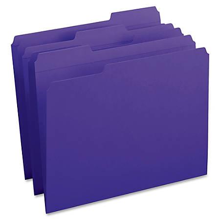 Smead® 1/3-Cut 2-Ply Color File Folders, Letter Size, Purple, Box Of 100
