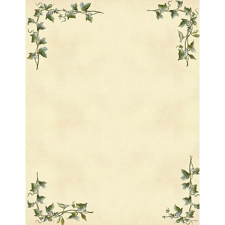 gartner studios design paper 8 12 x 11 60 lb ivy border pack of 100