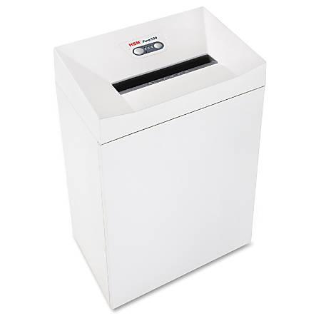 "HSM Pure 530c Cross-Cut Shredder - Continuous Shredder - Cross Cut - 18 Per Pass - for shredding Staples, Paper Clip, Paper, Credit Card, CD, DVD - 0.188"" x 1.125"" Shred Size - P-4 - 11.80"" Throat - 21 gal Wastebin Capacity - White"