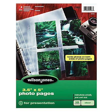 "Wilson Jones® 3"" x 5"" Vertical Photo Pages, Pack Of 10"