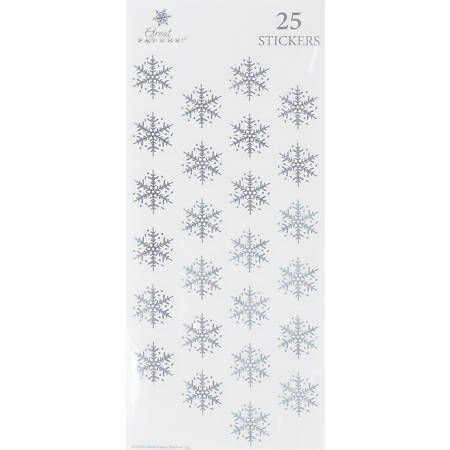 "Great Papers! Holiday Foil Seals, 1"", Silver, Silver Flakes, Pack Of 50"