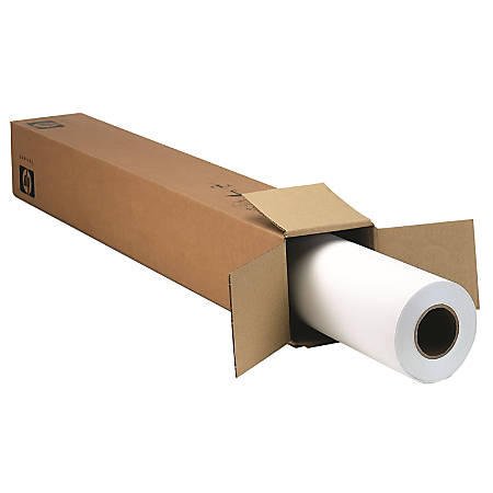 "HP Large-Format Film Roll, Matte, 42"" x 100', 10.2 mil, White"