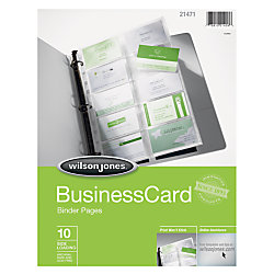 wilson jones business card tabbed binder pages 8 12 x 11 - Business Card Binder