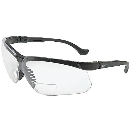 Genesis Readers Eyewear, Clear +1.0 Diopter Polycarb Hard Coat Lenses, Blk Frame