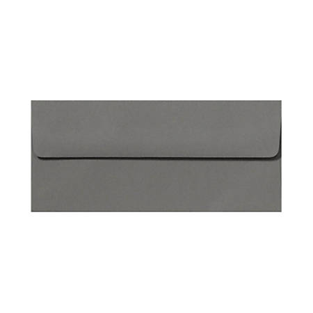 """LUX Envelopes With Peel & Press Closure, #10, 4 1/8"""" x 9 1/2"""", Smoke Gray, Pack Of 500"""
