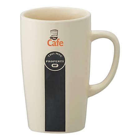 ID Chalkboard Ceramic Mug, 16 Oz, Cream