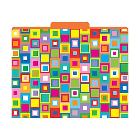 "Barker Creek Tab File Folders, 8 1/2"" x 11"", Letter Size, Squares, Pack Of 12"