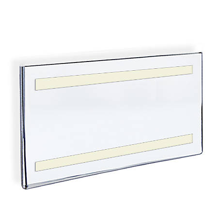"""Azar Displays Acrylic Sign Holders With Adhesive Tape, 11"""" x 17"""", Clear, Pack Of 10"""
