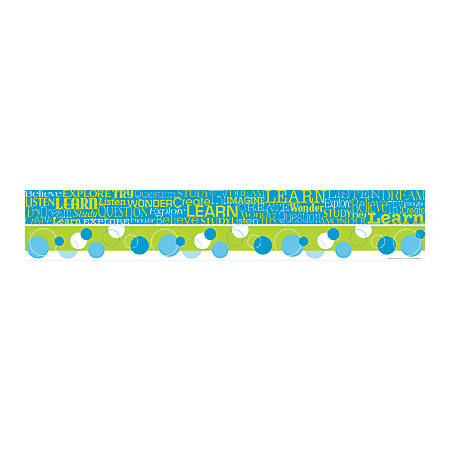 "Barker Creek Double-Sided Straight-Edge Border Strips, 3"" x 35"", Learn, Pack Of 12"