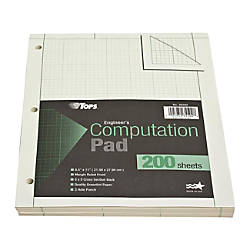 TOPS Engineers Computation Pad 8 12
